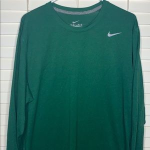 Nike men's Dri-Fit long sleeve green top | Size XL
